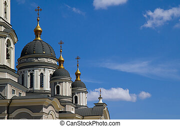 Christian Church on the blue sky background