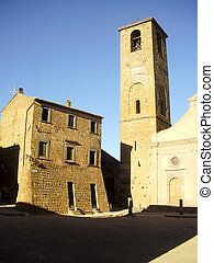 Church tower in Civita - Church tower in the Medieval...