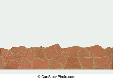 Border stone - Border of natural stone pink. Isolated on...