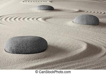 Japanese zen garden spa therapy