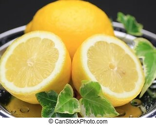 lemon - I put lemon in a tray and turned it and took it