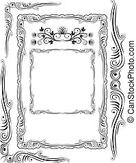 frames corners and ornaments