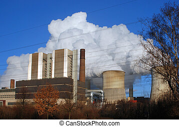 Power Station 3 - Vapour emissions from power station