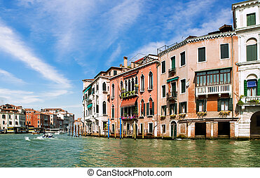 Venice Grand canal, Italy - Famous Grand Canal in Venice,...