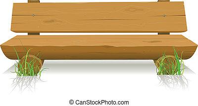 drewno, ława
