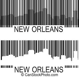 New Orleans barcode - City of New Orleans high rise skyline