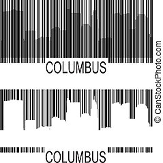 Columbus barcode - Columbus high-rise buildings skyline