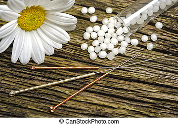 alternative medicine with homeopathy, globules and...