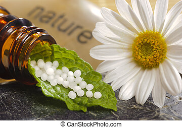 alternative medicine with homeopathy and globules