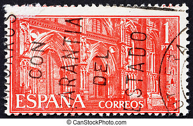 Postage stamp Spain 1959 Monastery of Guadalupe, Portals -...