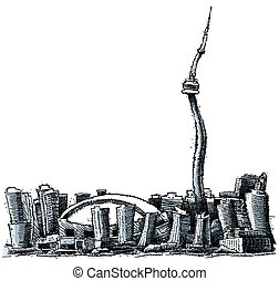 Wavy Toronto - A wavy illustration of the city of Toronto.