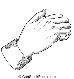 Knocking at the door - The hand with knocking gesture