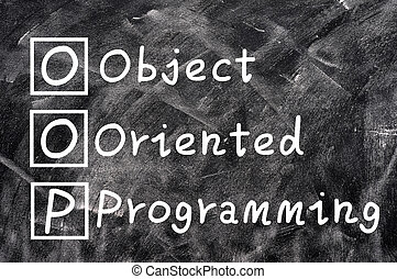 Chalk writing of OOP for Object Oriented Programming