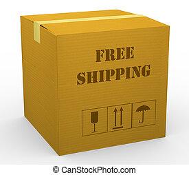 3d free shipping carton