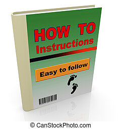 3d how to book - 3d render of how to instruction book...