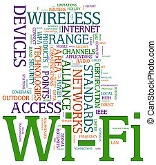 Wi-fi wordcloud - Illustration of wordcloud related to word...
