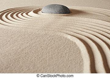 zen, budismo, meditación, jardín