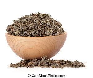 Vasos capilares, hierba