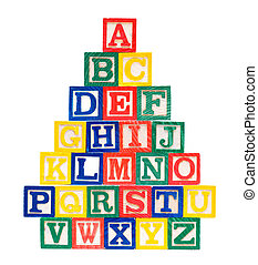 Wooden Alphabet Blocks-ABCD