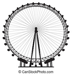 Carousel Silhouette Vector