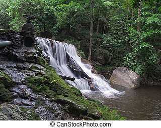 Huai Yang waterfall - First level of Huai Yang waterfall,...