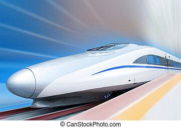 alto, velocidad, tren