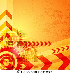 Colored arrow abstract background.