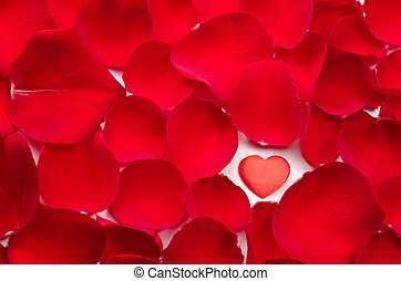 Heart in rose petals - One heart in rose petals all over...
