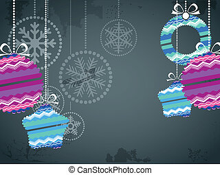 Christmas baubles - Christmas background with color...
