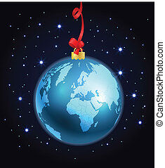 Abstract christmas ball - Abstract christmas ball of The...
