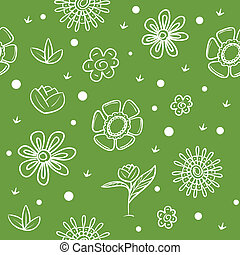 Spring green background with flower