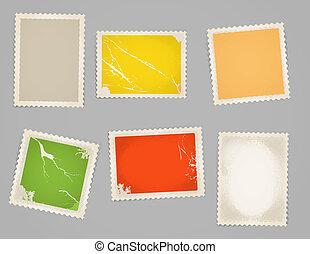 Vintage color post stamps