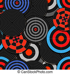 Colorful targets seamless backgroun