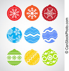 Color Christmas baubles collection