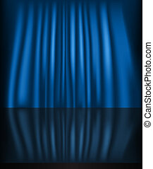 Abstract curtain blue background