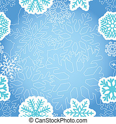 Blue Christmas greeting background