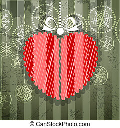 Vintage style greeting card with ornamented heart