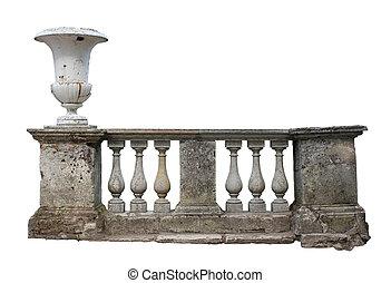 Baluster Railing - Abandoned ancient stone baluster railing...