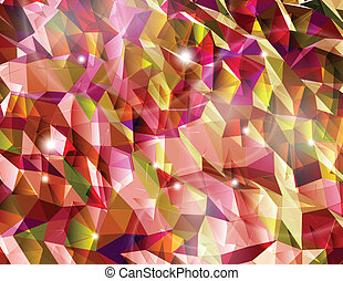 Abstract red background. Combination of triangle. Vector