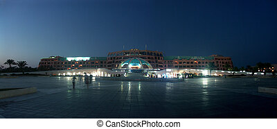 evening hotel of the resort in Egypt - panorama main calve...