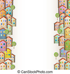 Borders of colorful homes
