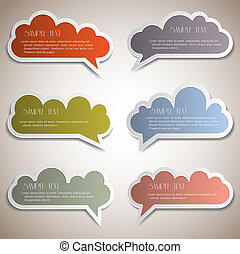 Paper speech bubblesVector set