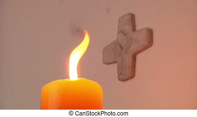 candle in the church