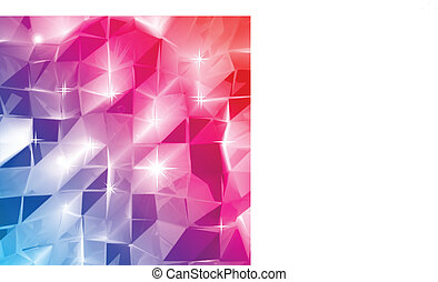 Colorful triangle abstract. Vector background