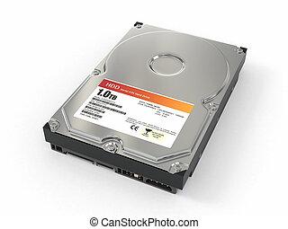 HDD ATA Hard disk drive 3d - HDD ATA Hard disk drive on...