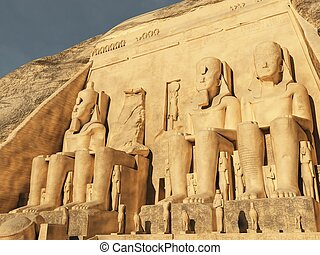 Abu Simbel - Three dimension illustration of Abu Simbel...