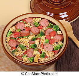 Sausage Pasta Casserole - Sausage, pasta and broccoli...