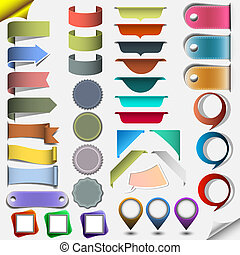 Collection different web elements. Vector eps10