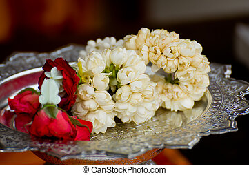 Flower Garlands for Hindu Religious