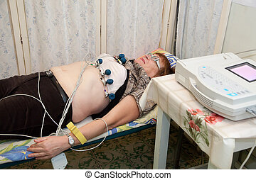 patient during ECG  procedure
